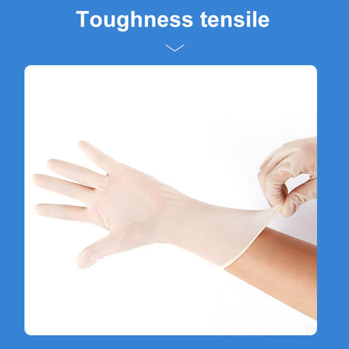 Disposable sterilized rubber surgical gloves